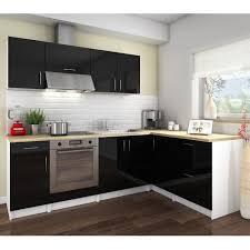 cuisine laqué noir cosy cuisine complète 2m80 laqué noir achat vente cuisine