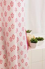 Pink Flower Shower Curtain White Pink Floral Girls Shower Curtain