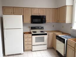 Beige Kitchen Cabinets by Kitchen Amusing Small Kitchen Decoration Using Cherry Staining
