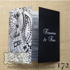 wedding invitations island pacific pattern gatefold wedding invitation design 172 mycards