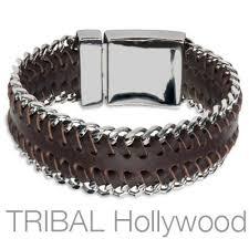 bracelet men leather images Leather bracelets for men tribal hollywood jpg