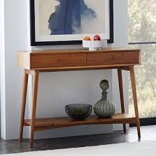 mid century modern accent table mid century console west elm