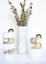 Dollar Store Vase Centerpiece Winter Vases Using Dollar Store Finds Taryn Whiteaker