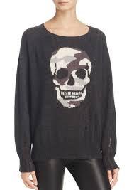 skull sweater aqua aqua camo skull intarsia sweater 100 exclusive