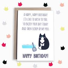 poem birthday card from the cat by miümi cat