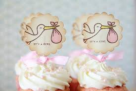 cupcakes for baby shower girl it s a girl it s a boy stork cupcake toppers baby