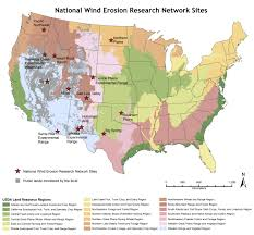 Wind Map United States by Welcome To The National Wind Erosion Research Network National