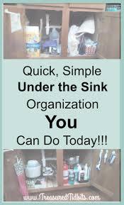 Under Kitchen Sink Organizer by Treasured Tidbits By Tina Simple Under The Kitchen Sink