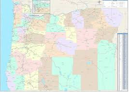 map of oregon i 5 oregon zip code map