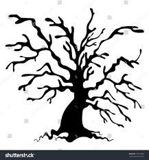 halloween silhouette vector halloween tree tree silhouette stock vector 115817860 shutterstock