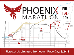 Phx Map Phoenix Marathon 2013 Course Map Tri Mesa Arizona Triathlon Club