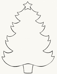 free printable christmas tree coloring pages for kids clip art