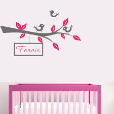 Custom Wall Decals For Nursery by Wall Stickers Custom Name Birds Branch Vinyl Decal Decor Nursery