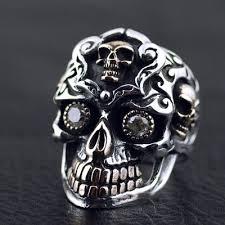 skull gothic rings images Japan gothic jewelry skull blood big golden teeth skeleton ring jpg