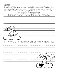 groundhog writing activity spring early