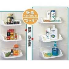 Plastic Bathroom Storage Buy Shelf Strong Suction Cup Storage Rack Corner Bracket Plastic