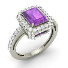 Amethyst Wedding Rings by Amethyst Engagement Rings For Women February Birthstone