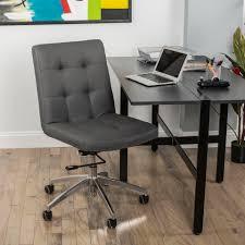 Adjustable Height Desk Chair by Dexter Grey Adjustable Height Swivel Tuffed Office Chair Matrix