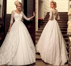 designer 2016 plus size vintage full lace wedding dresses bridal