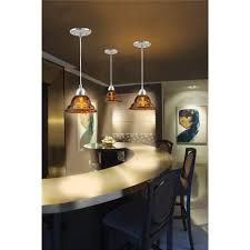 U Shaped Bar Table Lighting Pretty Brown Glass Kitchen Pendant Lighting With