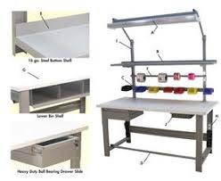 Workbench With Light Industrial Workbenches U0026 Work Tables Nationwide Industrial Supply