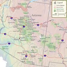 Atlas Mountains Map Arizona National Parks Forests U0026 Wilderness Map Rocky Mountain