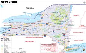 map of state of ny state map ny travel maps and major tourist attractions maps