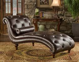 Chaise Lounge Sofa Leather by Wonderful Brown Leather Chaise Lounge With Traditional Chaise
