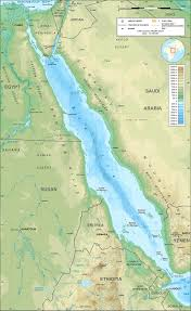 Southwest Asia Physical Map by Red Sea Wikipedia