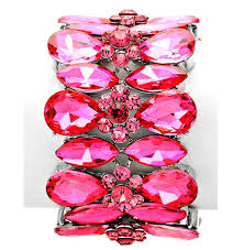 crystal pink bracelet images Elegant hot pink crystal bracelet jpg
