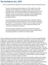 Council Of Architecture Professional Practice Pdf Architects Act 1972 Government Information Justice