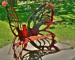 Butterfly Patio Chair Butterfly Chair Garden Butterfly Metal Chair Black Butterfly Metal