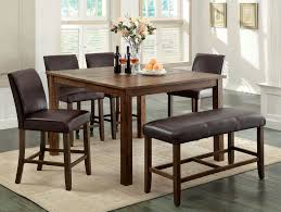 counter height dining table set 7 pc montana collection dark
