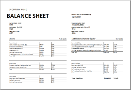 Template For A Balance Sheet by Balance Sheet Template Excel For Small Business Calendar