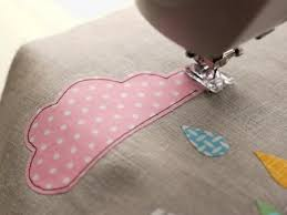 sewing on appliques with machine tutorial tips also links to