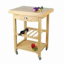 oak kitchen cart with drawer wine rack and shelf global sources
