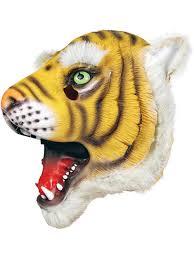 Halloween Rubber Masks Full Head Rubber Latex Animal Tiger Mask Safari Fancy Dress