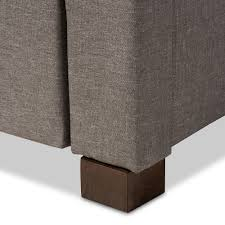 Upholstered Ottoman Storage Bed by Baxton Studio Brandy Modern And Contemporary Grey Fabric