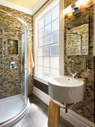 contemporary bathroom designs for small spaces small bathrooms big design hgtv