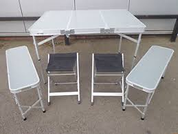 picnic tables folding with seats eurohike family picnic table folding camping outdoor 6 chairs seats