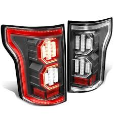 2015 ford f150 tail lights ford f150 2015 2017 black led tail lights outline a135qgf2109