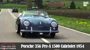 porsche 356 cabriolet 1954 porsche 356 pre a convertible youtube