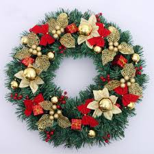 Decorated Christmas Wreaths Wholesale by Popular Hanging Christmas Wreaths Buy Cheap Hanging Christmas