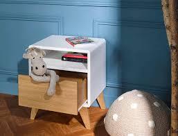 le de chevet chambre bébé table de chevet bloom blanc et chêne