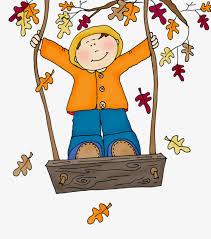 imagenes animadas de otoño dibujos de hojas de otoño swing pintado a mano de dibujos animados