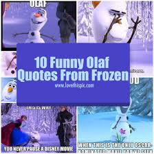 10 funny olaf quotes frozen
