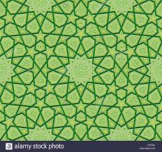 islamic ornament green background vector illustration stock