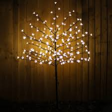 werchristmas 1 5 m 5 ft pre lit 200 led illuminated cherry blossom