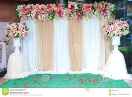 fabric backdrop colorful backdrop flowers with white and gold fabric arrangement