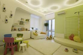 Kids Room Decoration Simple Modern Kids Room Decoration With Wall Niche Shelves Between